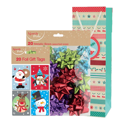 gift bags wrap bows