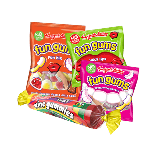 Fun Gums Rolls, Mega-Bags & Mini-Bags