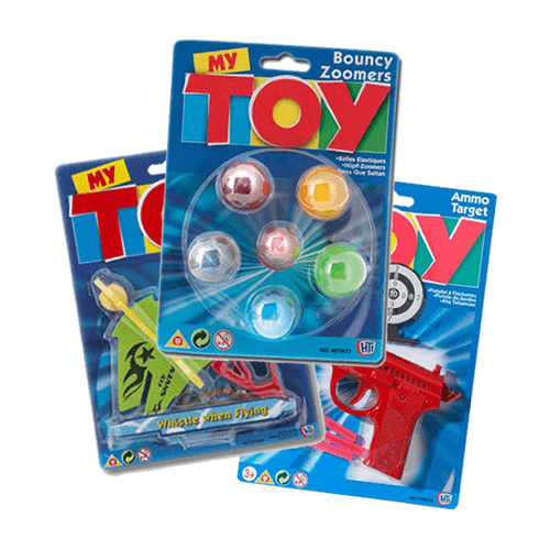 A pocketful of toys