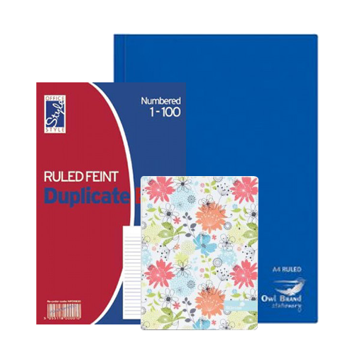 Notebooks, Pads & Receipt Books
