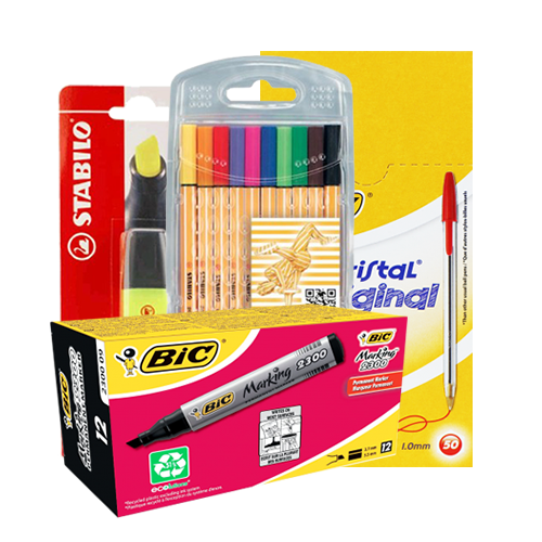 Pens, Pencils, Markers & Highlighters