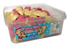 Pink & White Mice 5p Sweets