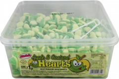 Apple & Custard Hearts 1p Sweets