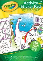 Crayola Animal & Activity Sticker Pad Book