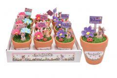 Fairyland Fairy Set In Plant Pot Assorted Designs CDU