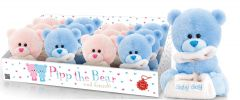 Nursery Pipp The Bear With Blanket 14cm 2 Assorted Colours CDU
