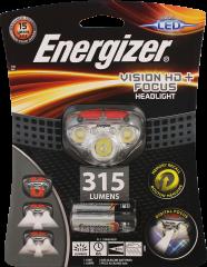 Energizer LED Vision HD+ Digital Focus Grey Headlight +3AAA