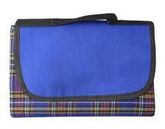 Blue Tartan Picnic Rug 145cm x 130cm