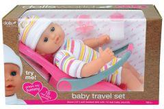 Dolls World - Baby Travel Set 30cm doll with Car Seat