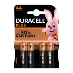 Duracell Plus Power Batteries MN1500 AA Card of 4
