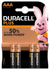 Duracell Plus Power Batteries MN2400 AAA Card of 4