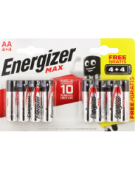 Energizer MAX AA Alkaline Batteries 4+4 Free