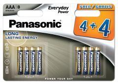 Panasonic AAA Alkaline 4+4 Free