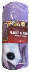 Emoji Unicorn Fleece Blanket 100cm x 150cm