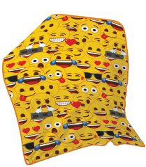 Emoji Faces Fleece Blanket 100cm x 150cm