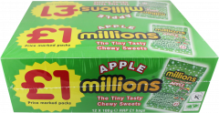 Millions Chewy Sweets Apple Flavour £1 PMP 100g