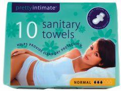 Pretty Intimate Sanitary Towels Regular 10's