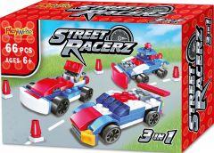 Street Racerz 3 in 1 Building Bricks Set - 66pcs