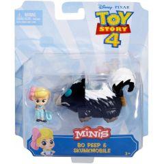 Toy Story 4 - Mini Figures and Vehicle Assortment - Bo Peep & Skunkmobile