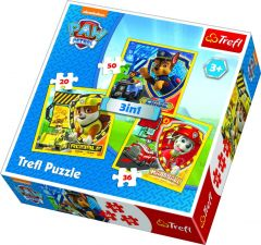 3 in 1 Puzzle - Paw Patrol
