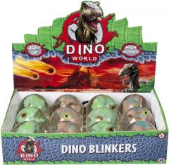 Dino World Dino Blinkers Assorted Colours CDU