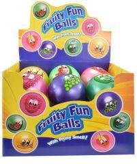 10cm Fruity Fun Ball Assorted Colours CDU