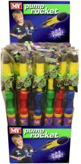 83cm Foam Pump Rocket Assorted Colours FSDU