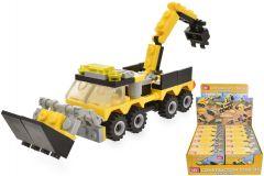 Construction Vehicle Brick Set 4 Assorted Designs CDU