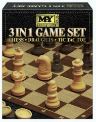 3 in 1 Chess / Checkers Game Set