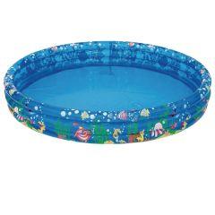 Tropical Print 3 Ring Paddling Pool - Inflatable - 120cm