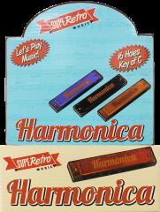 Retro Harmonica Assorted Colours in CDU