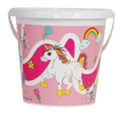 Bucket - Printed Unicorn Bucket - 17cm
