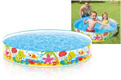 Under the Palm Trees - Rigid Wall Paddling Pool - 5ft x 10 Inch Round Pool