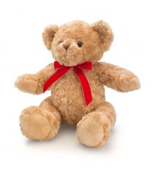 Keel 30cm Traditional Bear with Ribbon
