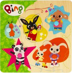 Bing Bunny - Wooden Pick and Place Puzzle in CDU