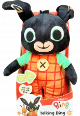 Bing Bunny - Huggable Talking Bing Soft Toy