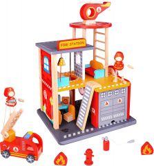 Wooden Fire Station Set