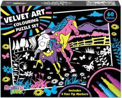 Velvet Art Colouring Puzzle Set in Colour Box