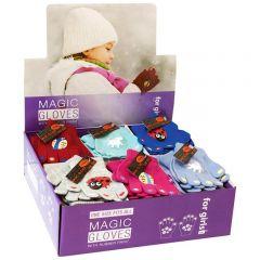 Girls Thermal Magic Gripper Gloves In CDU