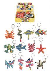 Sand Animals Keychain 7-12cm in CDU