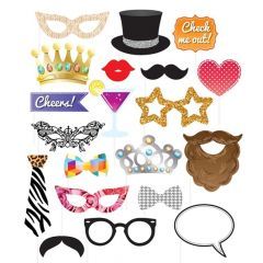 Assorted Party Photo Props With Sticks