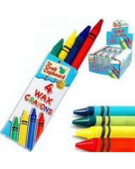 Wax Crayons 4 Pack in CDU