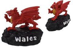 Wales Dragon Coal Resin Figurine 3 Inch