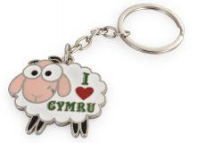 Metal Keyring - Sheep I Love Wales