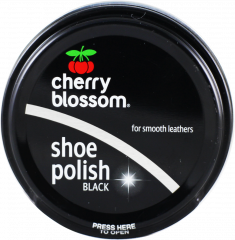 Cherry Blossom Black Shoe Polish 50ml