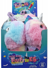 GoGoPo Fluffies Unicorn Rainbow Plush in CDU