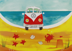 Postcard-Lazy Days VW Camper