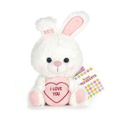Love Hearts - Bunny ' I Love You' 7 Inch Plush