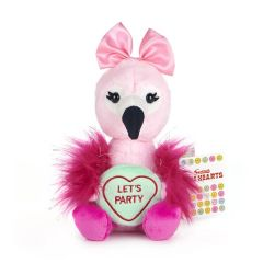 Love Hearts - Flamingo 'Let's Party' 7 Inch Plush