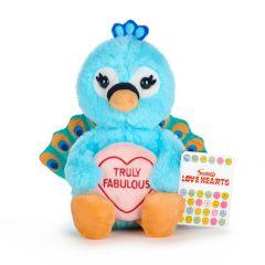 Love Hearts - Peacock 'Truly Fabulous' 7 Inch Plush
